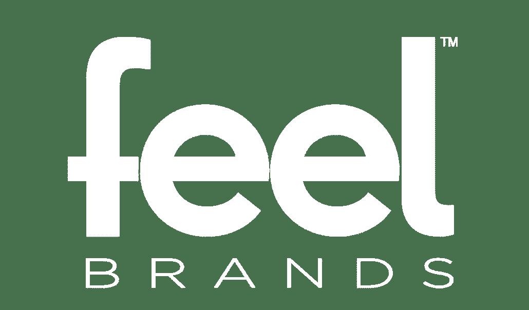 Feel Brands Logo White Transparent