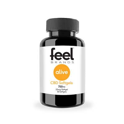 Feel Alive™ 25mg CBD Gelcaps