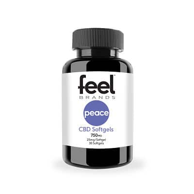 Feel Peace™ 25mg CBD Gelcaps