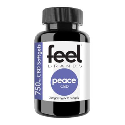 Feel Peace 750mg CBD Gel Capsules