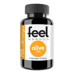 Feel Alive 750mg CBD Gel Capsules