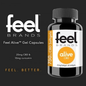 Feel Alive CBD Gel Caps
